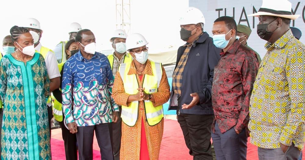 Kalonzo Musyoka (second left)said he won't endorse Raila for the presidency again.