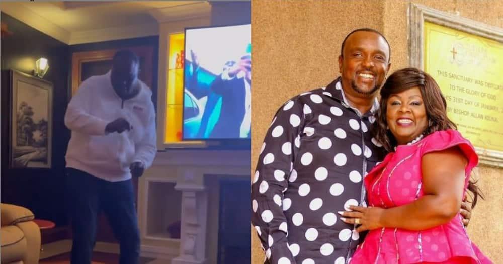 Kathy Kiuna shares video of bubbly husband dancing, shows off lavish living room
