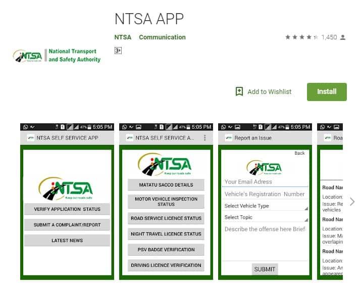 NTSA app download