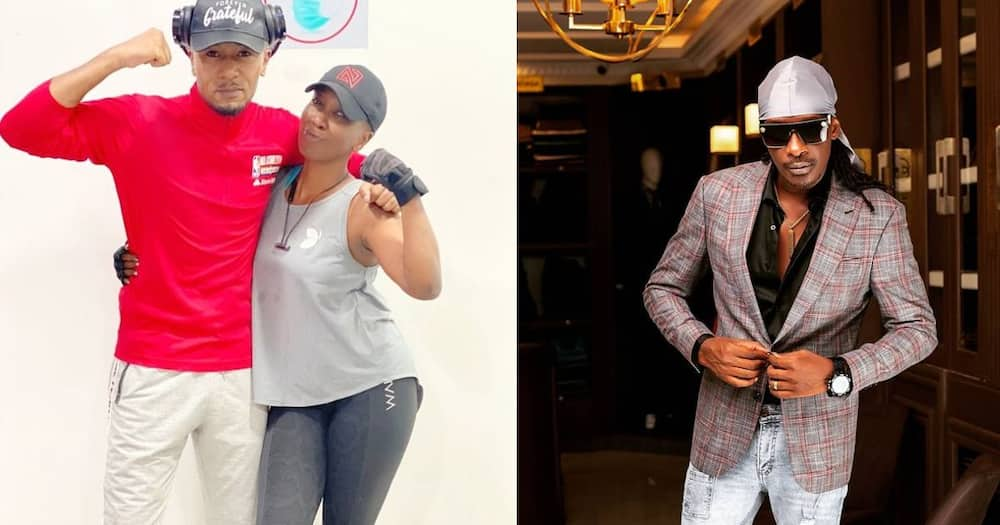 Wahu bumps into DJ Mo at the gym, ask him to convince hubby Nameless to start working out.