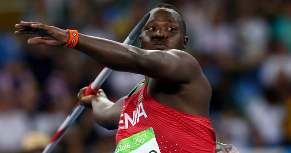 Julius Yego competes during the Men's Javelin Throw Final during the Rio 2016 Olympic Games. Photo by Alexander Hassenstein/Getty Images.