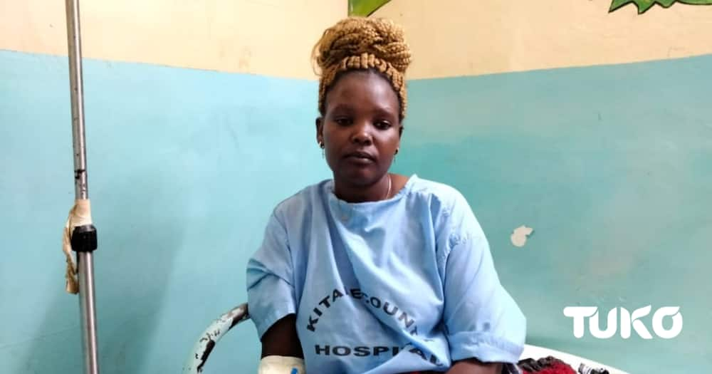 Kitale shooting incident victim Phanice Chemutai Juma. Photo: Dennis Lubanga.