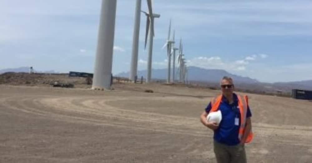 KP&P Africa director Kasper Paardekooper at a wind power project.