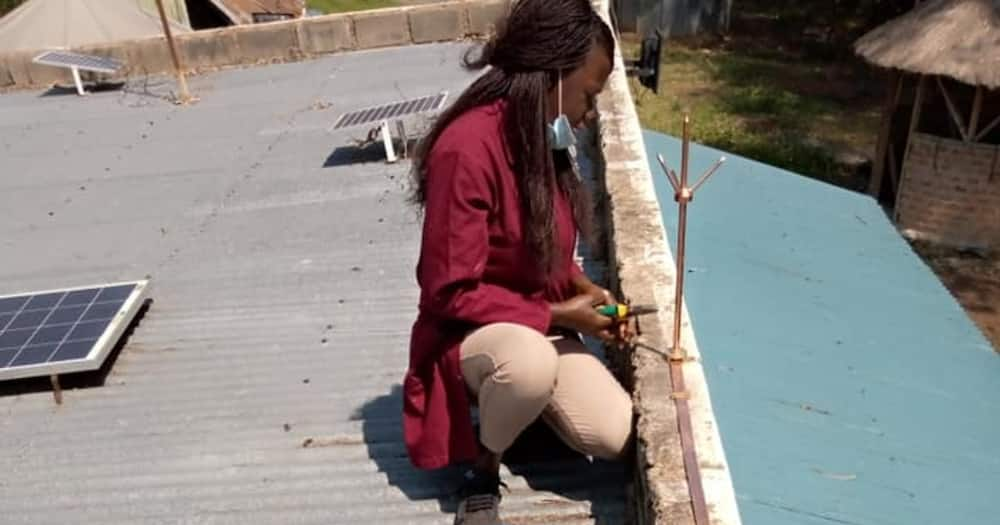 Exclusive: Beautiful female electrician lighting up Kisumu with her incredible work
