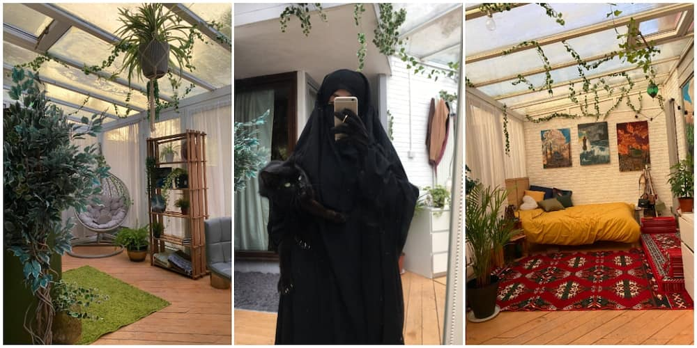 Photos, Video as Lady Showcases Her 'Space' in Family House with a Transparent Glass Roof, Stuns Many