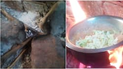 Three-stone cooking stove that saved night runners from being caught in line of duty