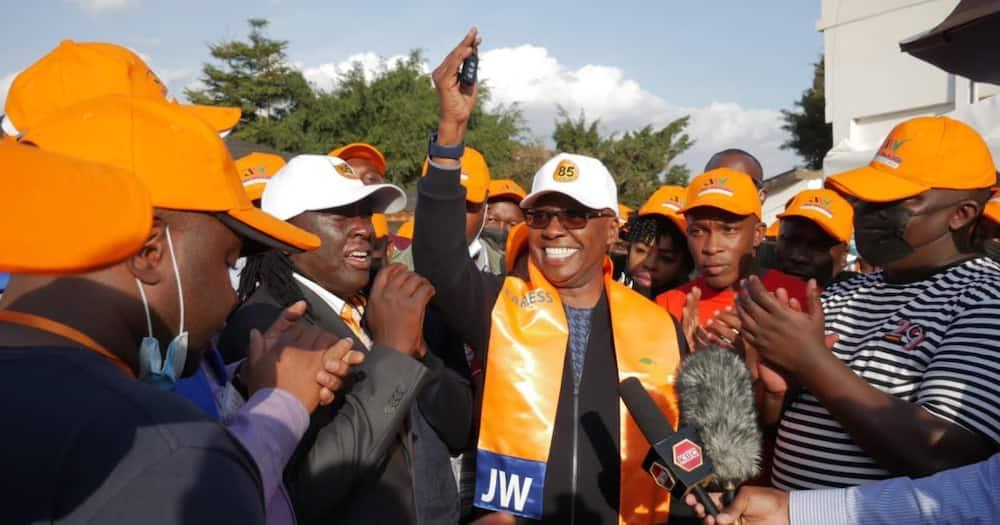 Jimmy Wanjigi asked ODM boss Raila to support his presidential bid.