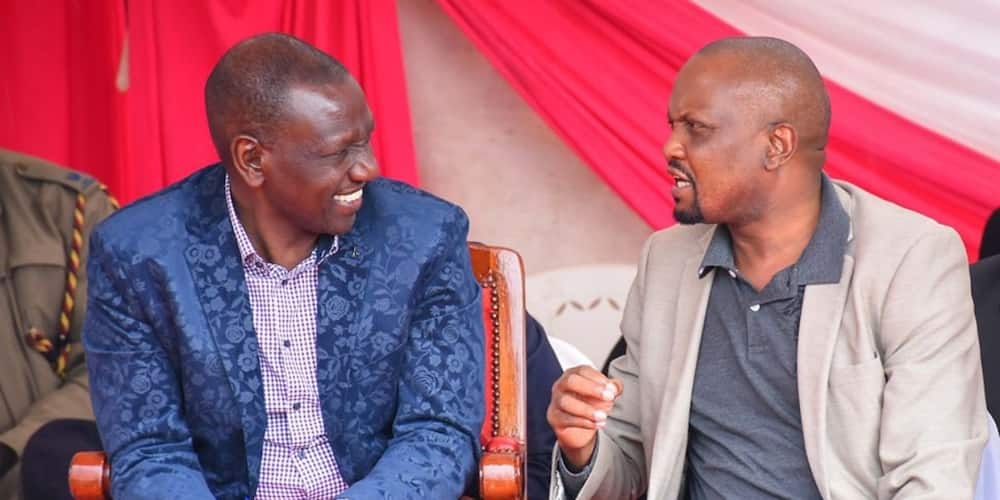 DP William Ruto (l) Gatundu South MP Moses Kuria(r). Photo. William Ruto.