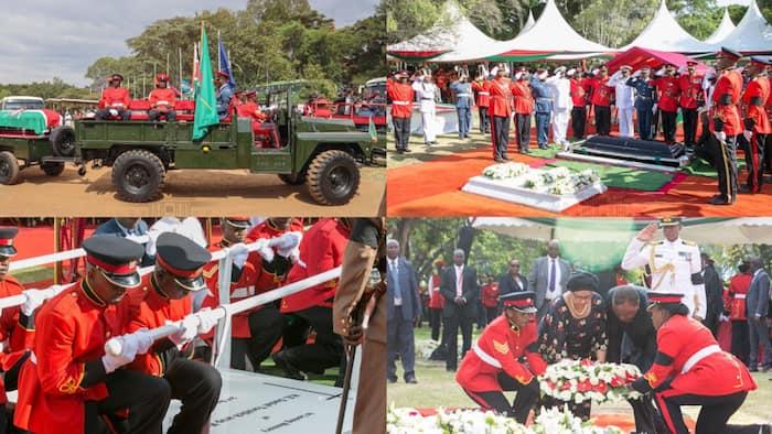 Picha za mazishi ya kijeshi aliyopewa rais mstaafu Daniel Moi
