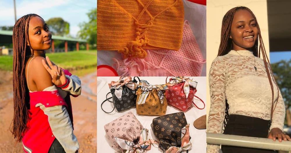 University student Annita Jasmine Mbita owns an online store.