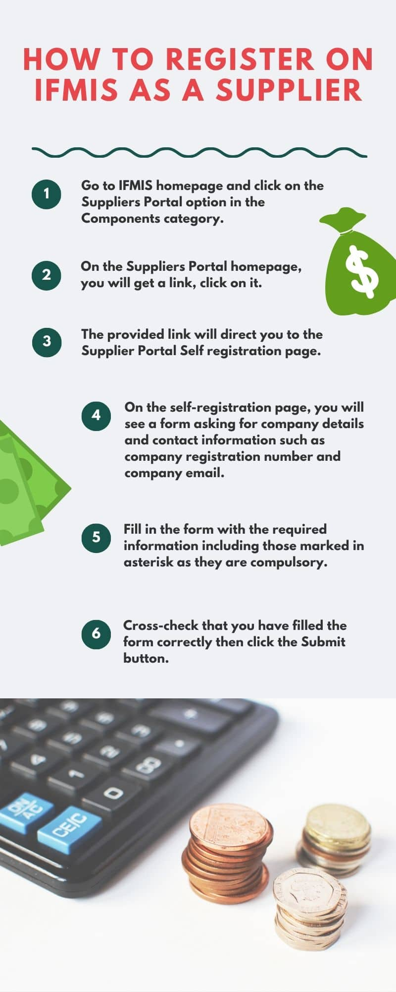 How to register on IFMIS as a supplier