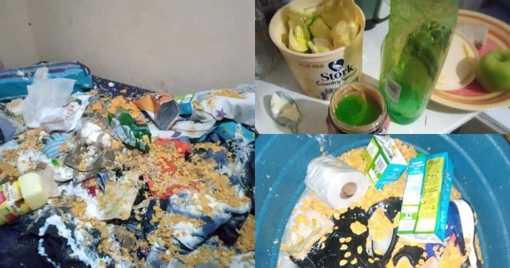 Eish: Angry Lover Destroys Bae's Home and Groceries Out of Spite