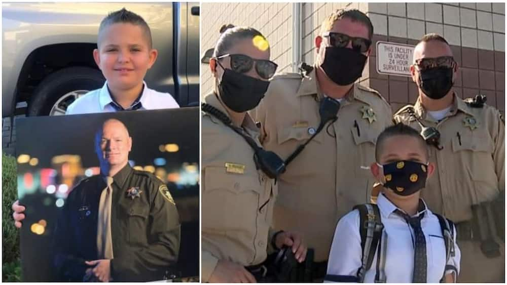 Jason's father was an officer with the Las Vegas Police Department.