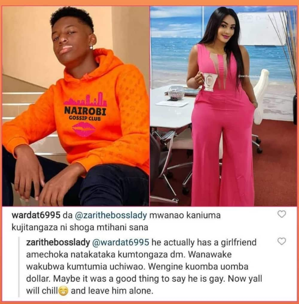 Zari Hassan explains why son hinted he's gay, says older women were sending him naked pics