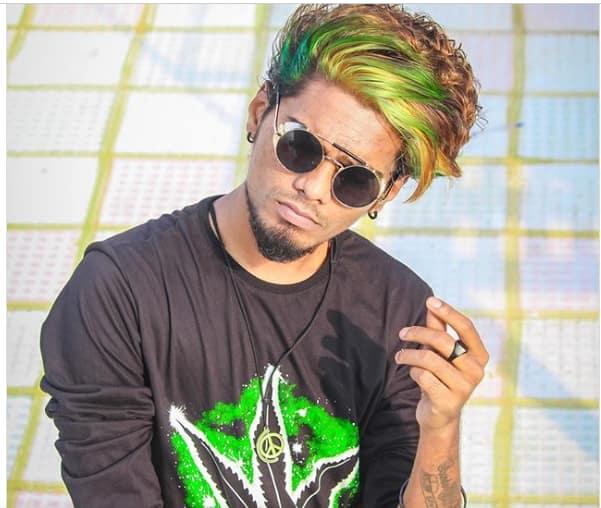 deep dyed green hair