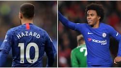Eden Hazard's priceless reaction to Willian's opener during Chelsea win over Spurs