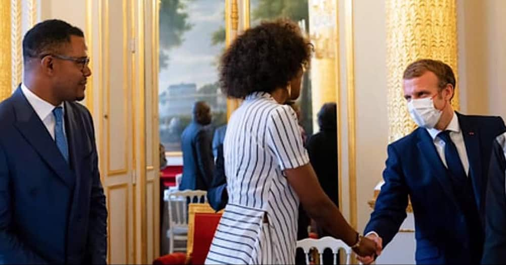 Adelle Onyango met with France President Emmanuel Macron and other top leaders.