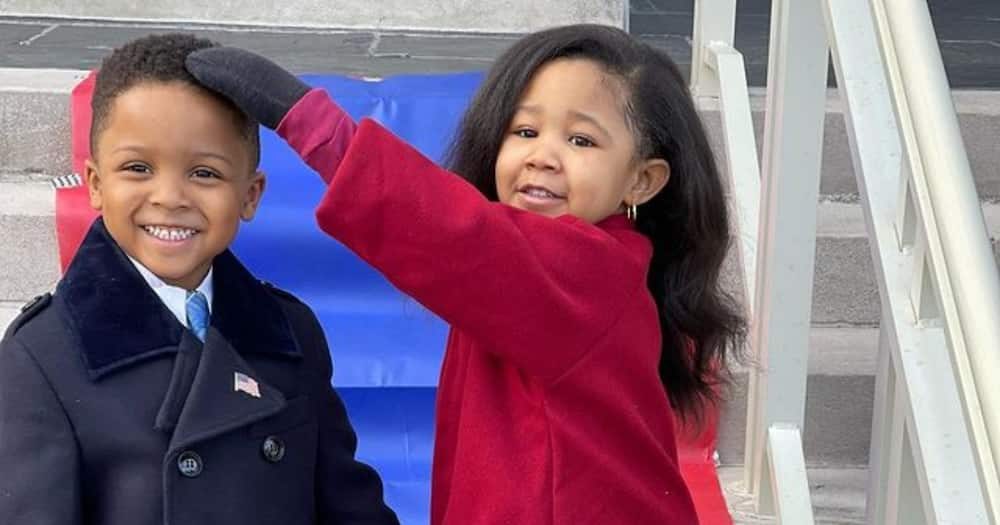 Adorable kids go viral after recreating Michelle Obama's funky inauguration outfit