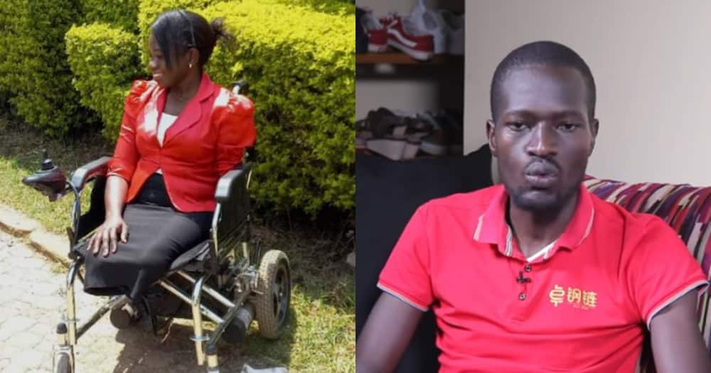 Peter Odiwuor married Linet, who has no legs and one hand. Photo: TUKO Talks.