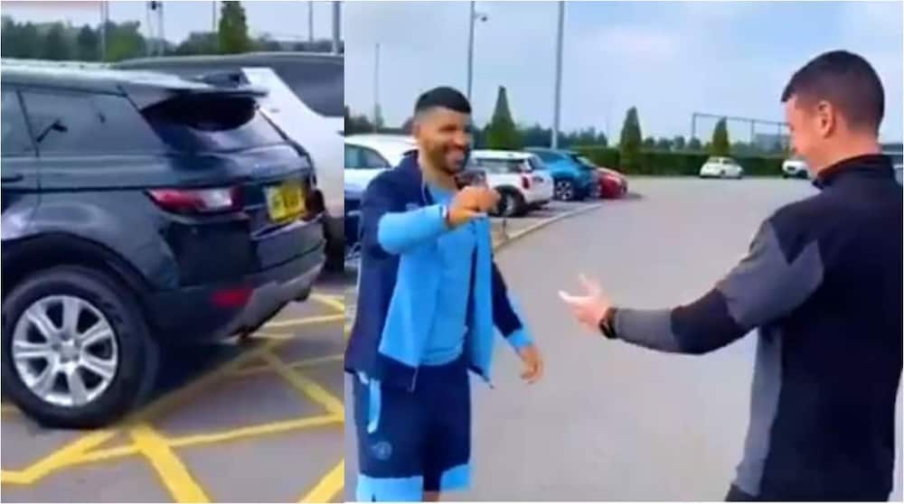 Video Shows Emotional Moment Sergio Aguero Gifted His Expensive Range Rover to Man City Kit Man