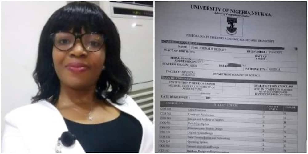 Bridget Ujah-Ogbuagu (pictured) celebrated bagging a master's degree after years of struggle.