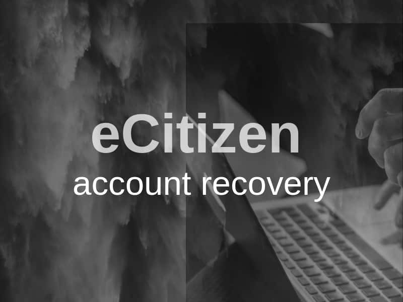 eCitizen account recovery