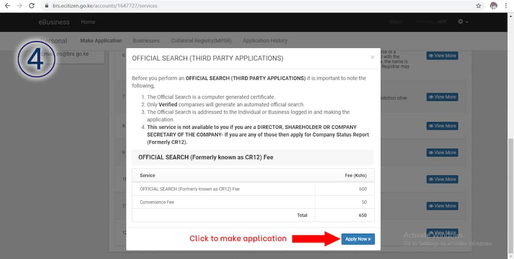 How to apply for CR12 on eCitizen