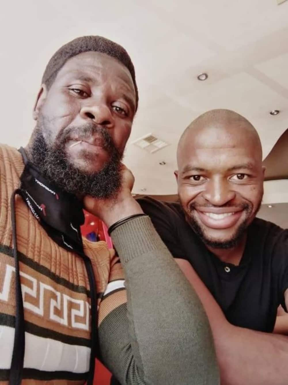 Thabani Nhlengethwa praised his stepdad for making him the man he is today. Photo credit: Facebook/Thabani Nhlengethwa