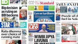 Kenyan Newspapers Review for August 16: Proponents Exude Confidence ahead of BBI Verdict on Friday