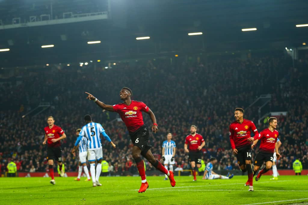 Pogba nets brace as Man United defeated Huddersfield by 3-1 on Boxing Day