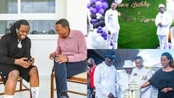 Alfred Mutua Celebrates Rayvanny During His Birthday Party, Says They Share Similar Personalities