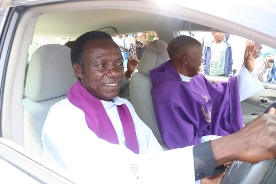 Khalwale donates brand new car to Kakamega Catholic priest as a Christmas gift