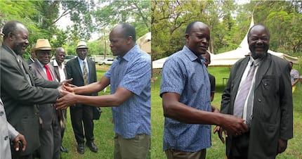 Governor Obado welcomes Homa Bay elders at his home for peace talks