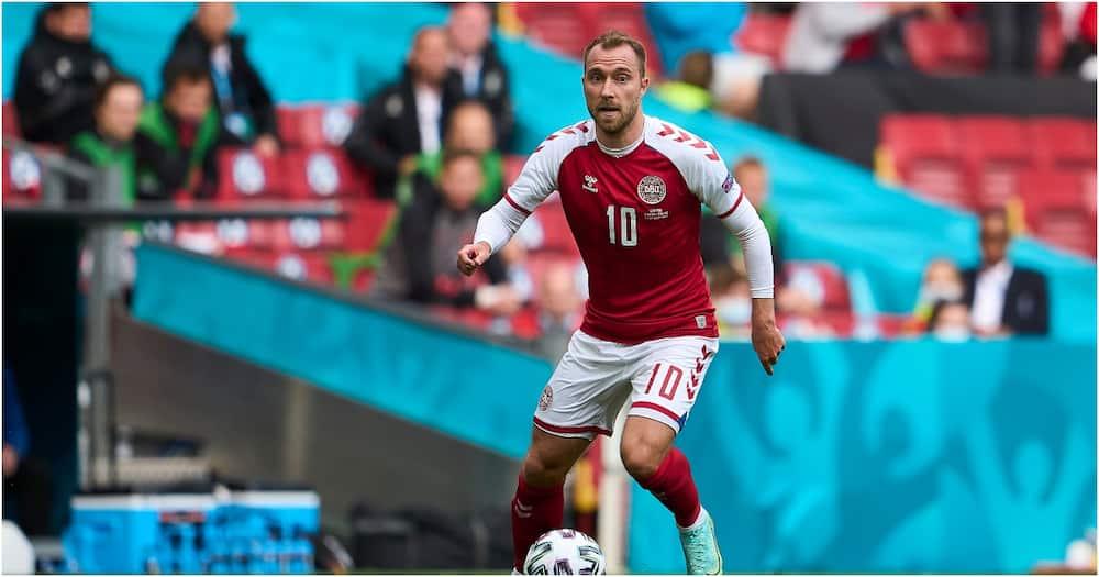 Christan Eriksen playing for Denmark.
