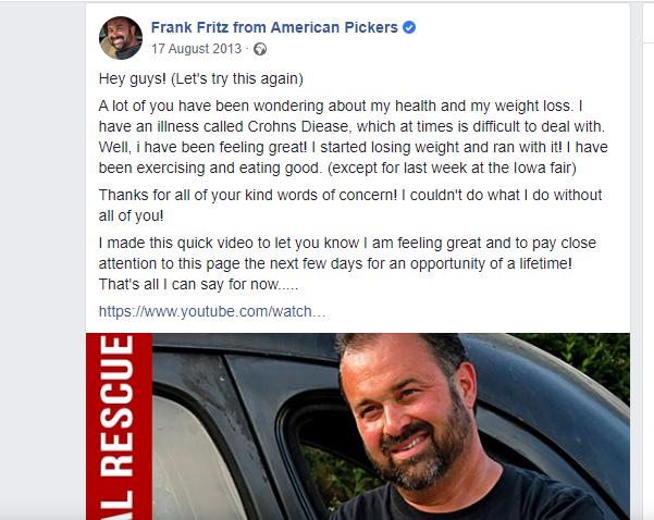 American Pickers Frank Fritz Death Rumours And Latest Updates Tuko Co Ke