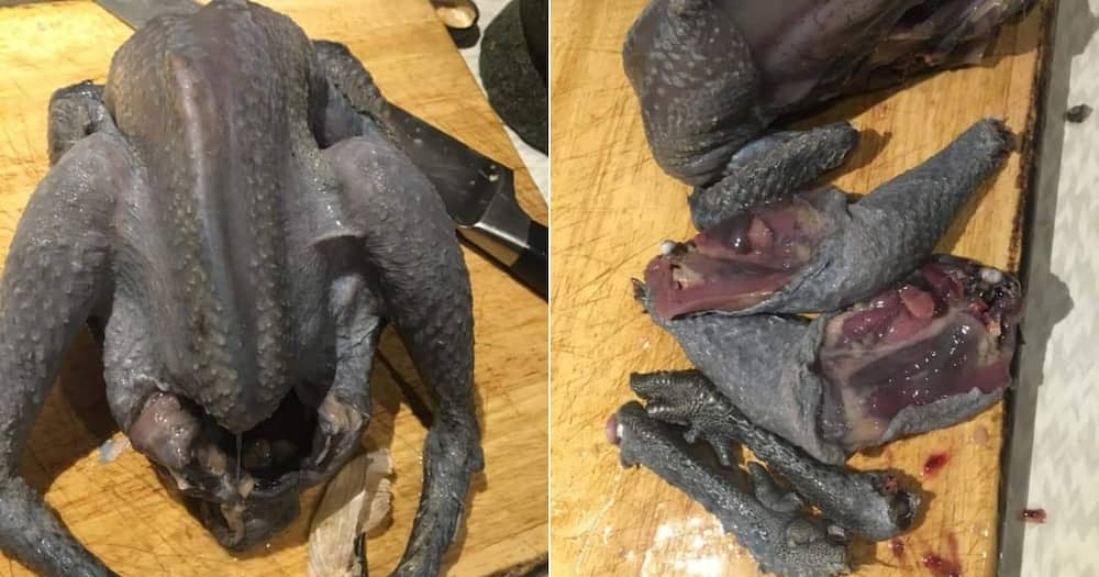 Black chicken leaves Mzansi divided as lady asks for a recipe