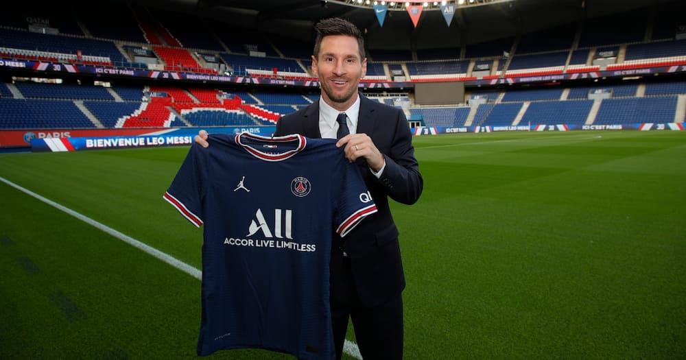 Lionel Messi in PSG colours