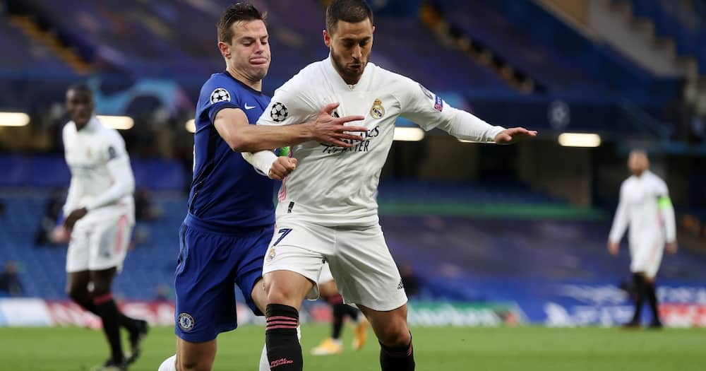 Once a Blue: Eden Hazard spotted laughing with Chelsea players after Real Madrid exit from Champions League