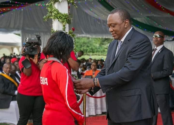 Mary Keitany awarded third highest state commendation by President Uhuru Kenyatta