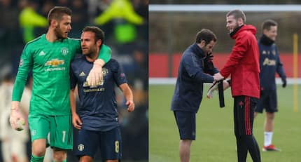 Manchester United duo of David de Gea and Juan Mata show off their Aston Martins