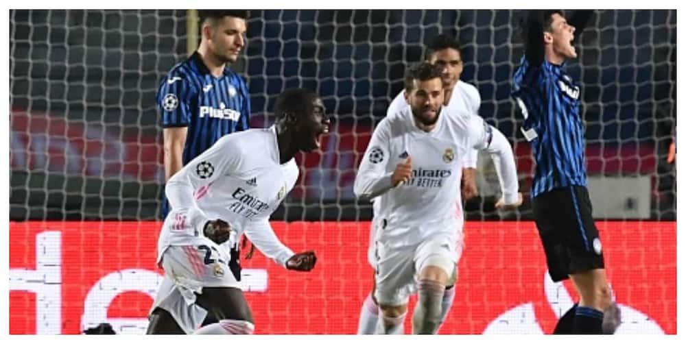 Real Madrid score late goal to hold Champions League 1st leg advantage over Atalanta