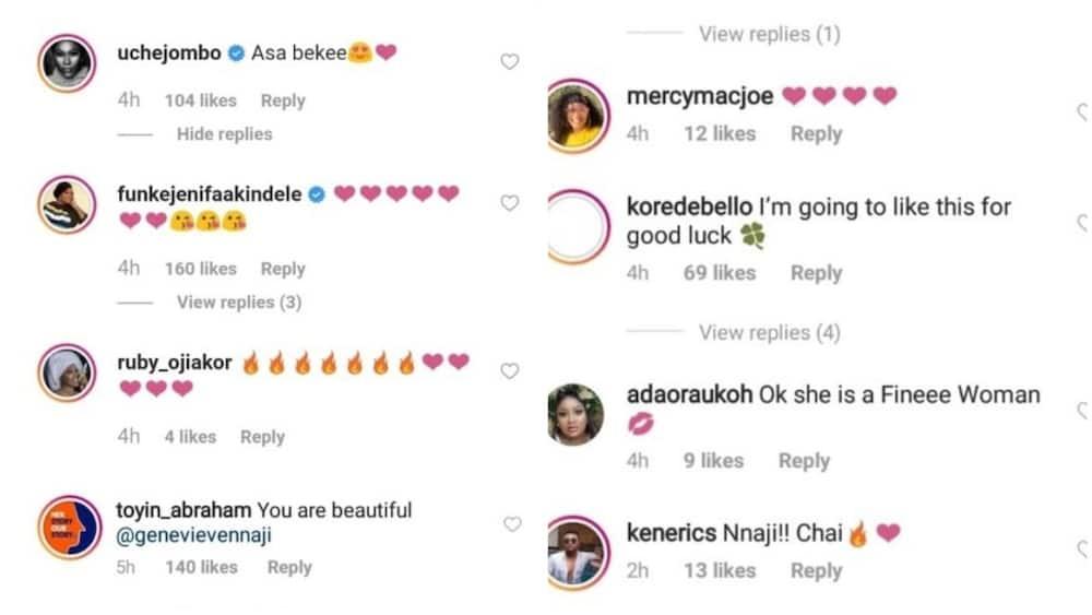 Nigerian celebs gush over Genevieve Nnaji as she shares new photo online