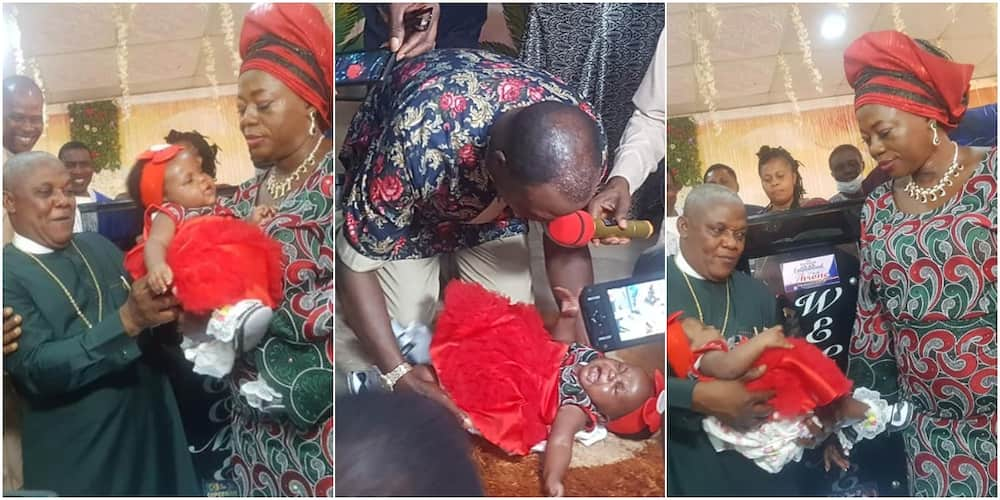 Joy as Nigerian pastor and his wife finally welcome 1st child after 25 years of marriage