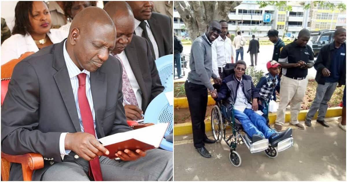 Paralysed Nakuru man thanks Ruto for helping him remove broken screws from body in India