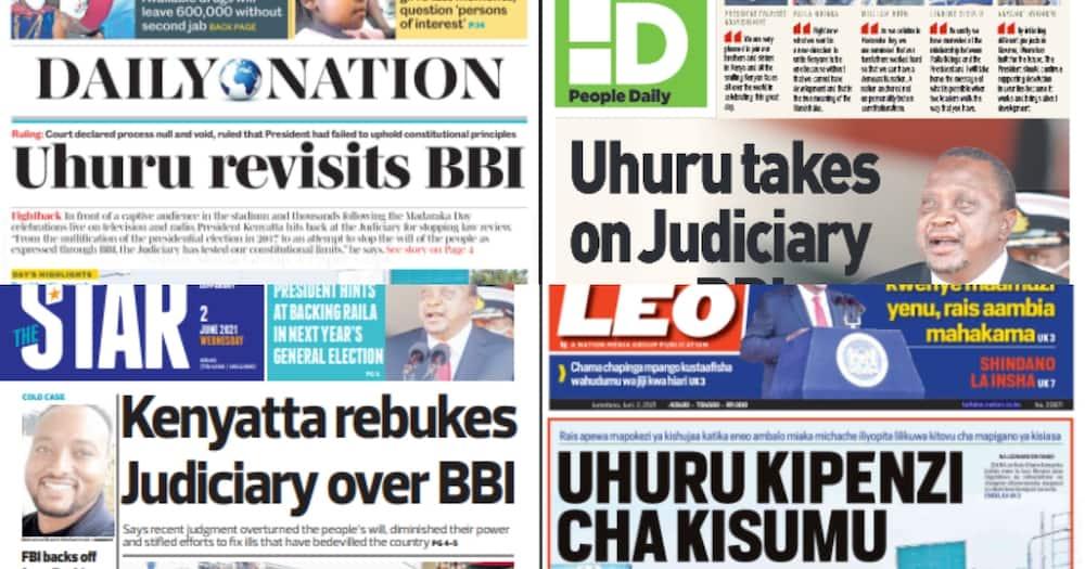 Newspaper Review For June 2: Uhuru's Tirades on Judiciary