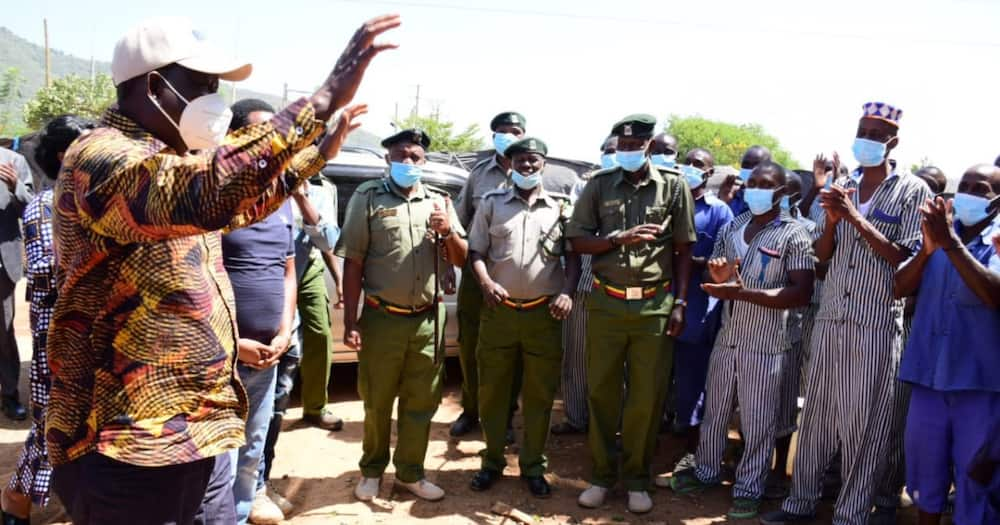 Raila reminisces his days in jail during interaction with Manyani Prison inmates