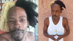 Outrage as Jamaican artiste SKP bleaches his face half-way