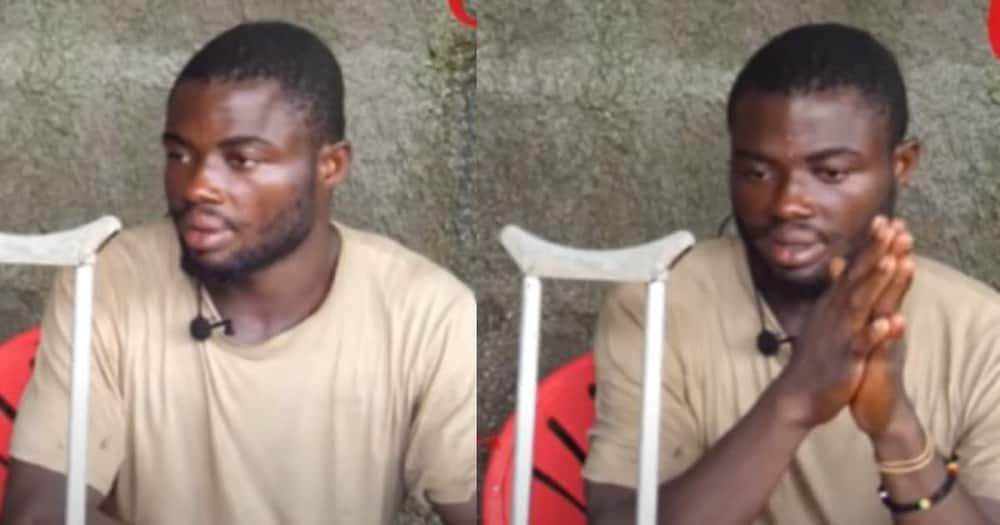 Atta Kofi Adam narrates how he lost a leg at work.