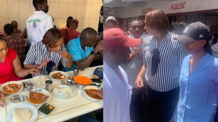 Mwanasiasa Karen Nyamu Ala Chakula na 'Hustlers' Katika Soko la Burma