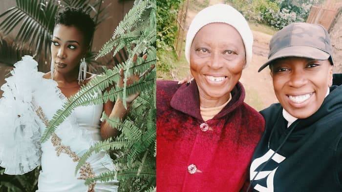 """Wahu Spends Weekend with Lookalike Mother: """"God Bless All Moms"""""""
